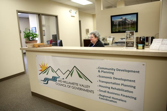 The Mid-Willamette Homeless Initiative, which works out of the Mid-Willamette Valley Council of Governments office, is shown on Friday, Oct. 26.
