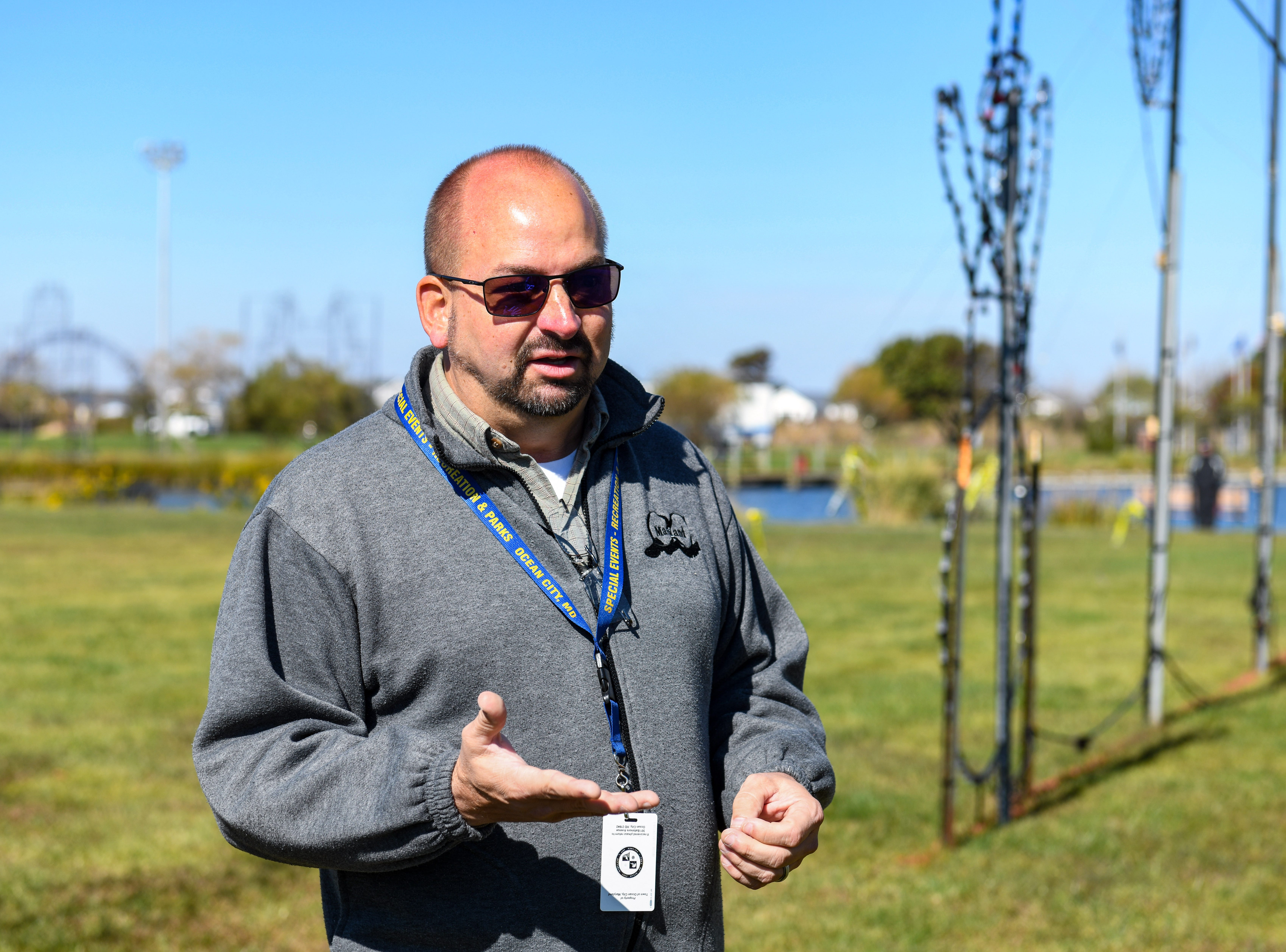 Frank Miller, Ocean City special events director, talks about the town's busy event schedule in Northside Park on Monday, Oct 22, 2018.