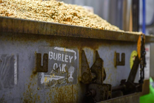 A batch of spent grain sits at the Burley Oak Brewery in Berlin on Wednesday, Oct 24, 2018.
