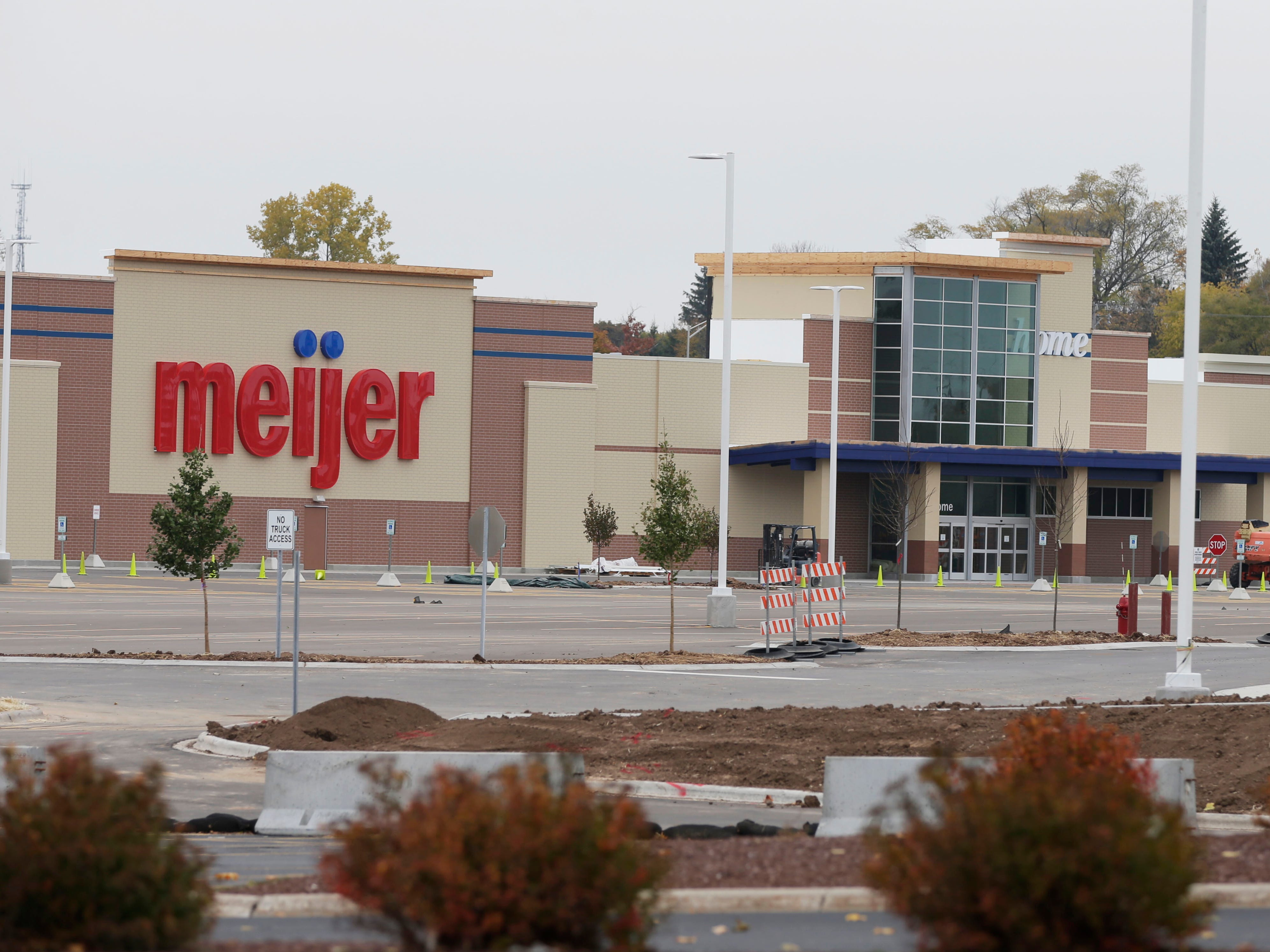 A view of the status of the new Meijer building, Friday, October 26, 2018, in Sheboygan, Wis.