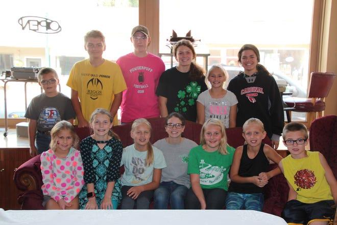 Back row: Joe Bares, Kyle Bares, Colin Winberg, Karlie Klein, Jodie Klein, Clare Klein. Front Row: Paige Deuter, Danika Deuter, Sydney Carlson, Sierra Klein, Rylee Klein, Ellie Carlson, Eric Bares.