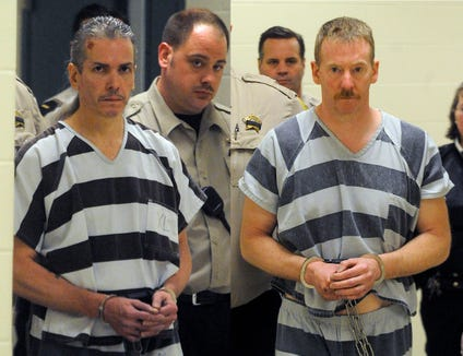 Rodney Berget (left) and Eric Robert  were sentenced to death for the murder of South Dakota State Penitentiary correctional officer Ronald Johnson in 2011.