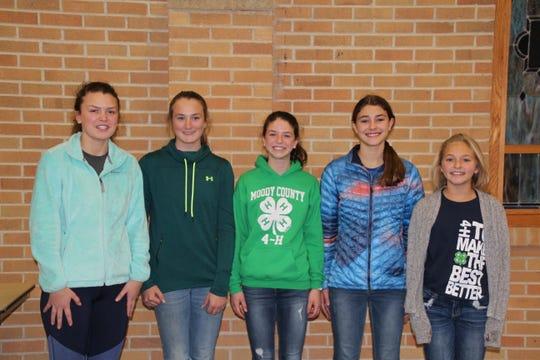 (Left to right): President Karlie Klein, Vice President Katie Scherff, Secretary Sierra Klein, Treasurer Sydney Klein, Historian Jodie Klein.