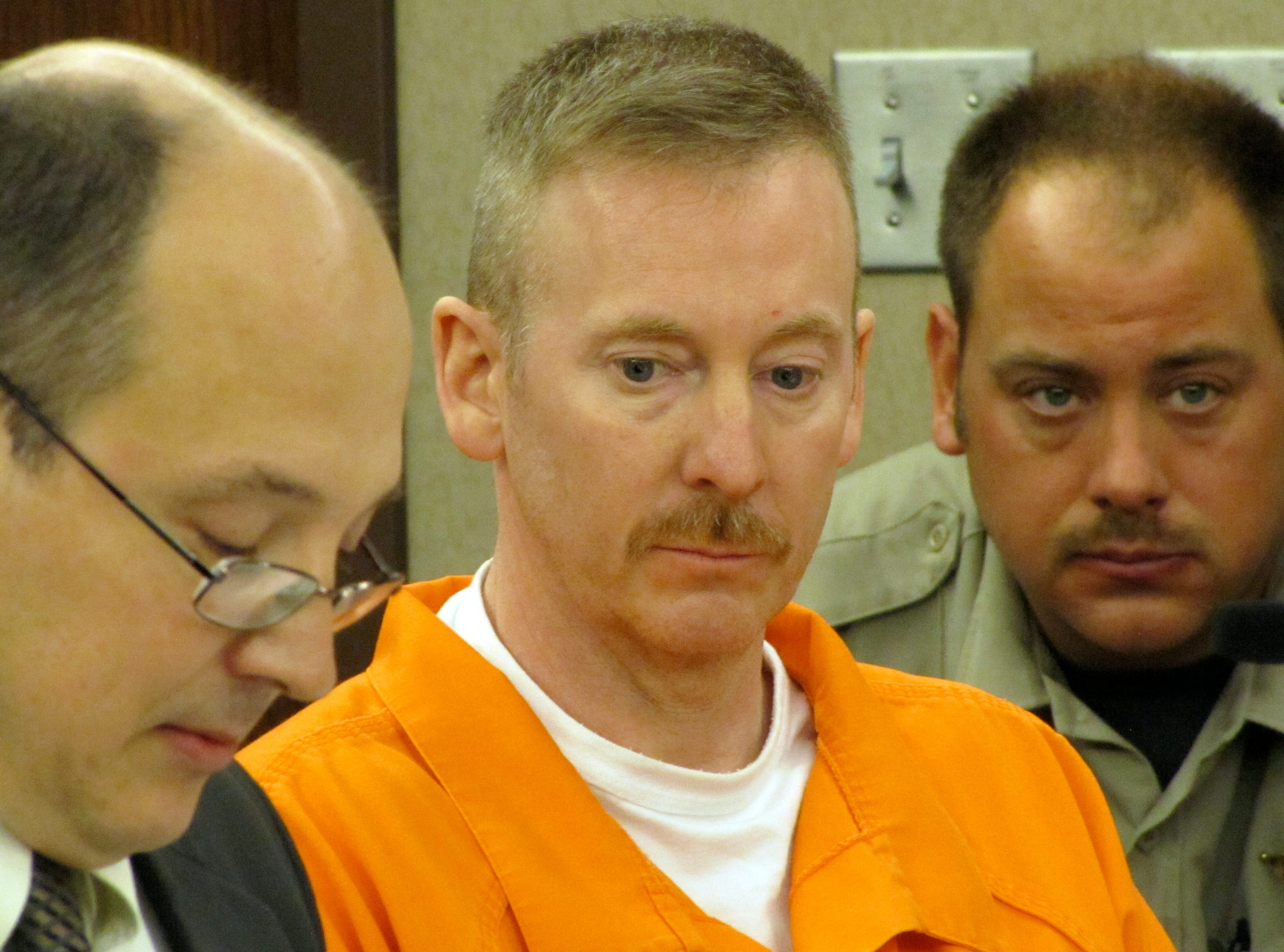 Eric Robert during his hearing at Minnehaha County Courthouse Tuesday, October 25, 2011.(Emily Spartz/Argus Leader)