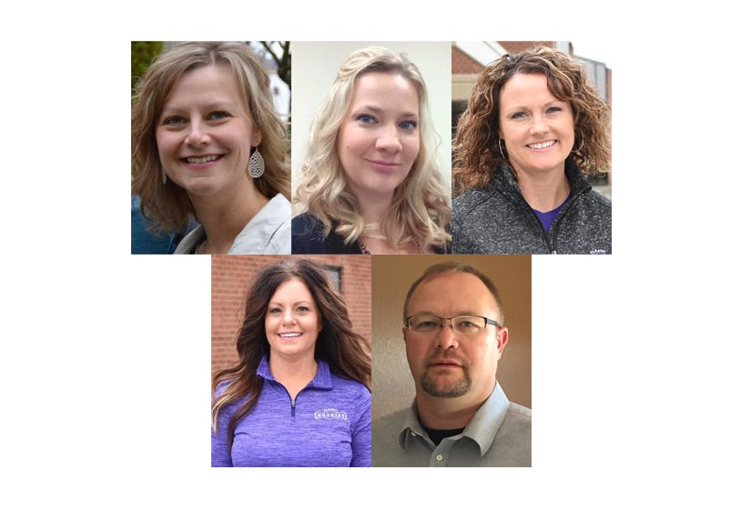 Jennifer McLachlan, Tara Ostendorf,Lynn Westgard Pennie, Amy Sand and Donald Winkels are vying for three seats on the Albany Area School Board.