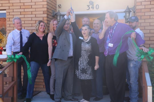 Youth Futures founders, Washington County School District officials, local leaders and community members cut the ribbon on the first-ever youth homeless shelter in St. George on Oct. 26, 2018.