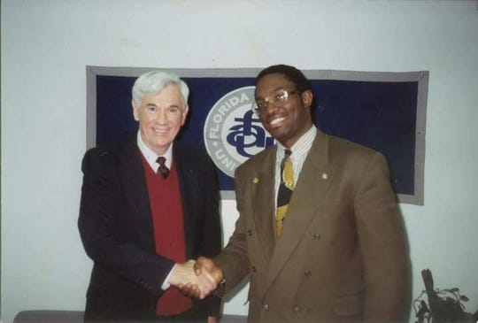 former Gov. Ruben Askew and Kyle Gibson