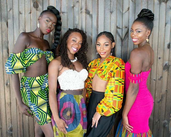 Styles modeled for Tallahassee African Fashion Weekend. The main event will take place on Saturday, Nov. 3,at Wyndham Garden Inn.