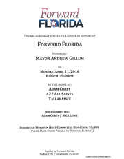 An undercover FBI agent Mike Miller likely paid the bill for the food and drinks at the kickoff fundraiser for the PAC that would become Andrew Gillum's gubernatorial warchest.