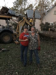 Mike and Lynne Belisle of Quincy got help cleaning up the damaged home from volunteers from the Church of Jesus Christ of Latter-day Saints.