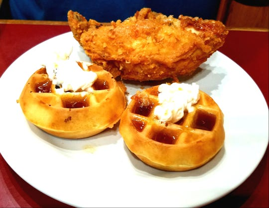 It's easy to create a classic Southern dish with the Seminole Inn's signature friedchicken and mini waffles.