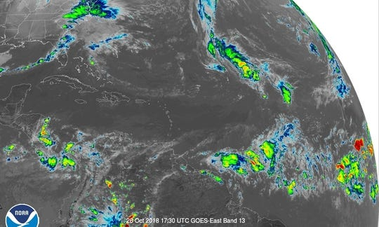 Tropical Atlantic 2 p.m.. Oct. 26, 2018