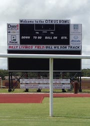 A 36-foot video board was added to the Citrus Bowl game-day experience in 2014. The scoreboard also includes references to the 10 state championship game wins by the school's girls lacrosse team.