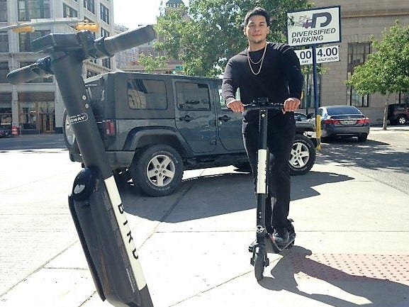 Bird electric scooters hit El Paso; city tells California company to remove them