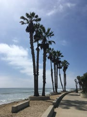 Ventura's promenade is popular with cyclists, walkers, joggers and others.