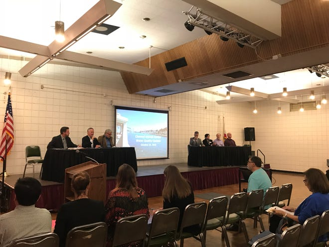 Oxnard officials and experts in biological sciences held a meeting about water quality at the Channel Islands Harbor on Monday.