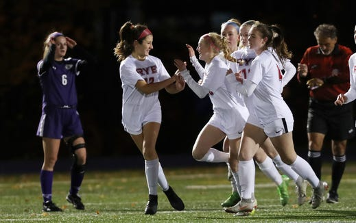 John Jay defeated Rye 2-1 in double  overtime during girls soccer playoffs at John Jay High School in Cross River Oct. 25, 2018.