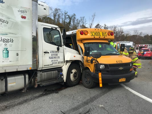 School Bus Vs Truck Accident