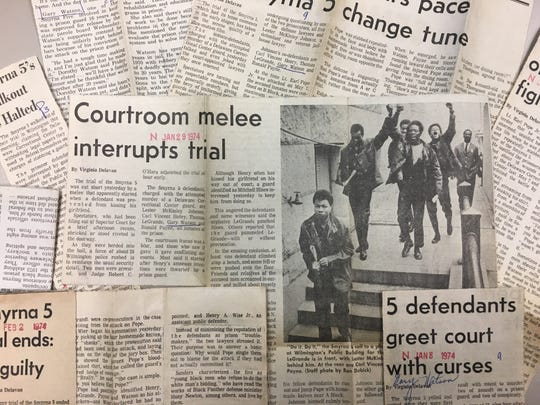 Clippings from the Smyrna 5 trial describe a tension-filled case up until all men were found guilty of the charges.