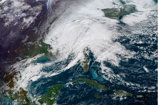 Most of the East Coast is under a cloud as the first nor'easter of the season threatens strong wind and coastal flooding in the Mid-Atlantic this weekend.