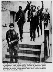 This photo from The News Journal archives shows the Smyrna 5 defendants arriving at the courthouse. Both Thomas LeGrande and Gary Watson are pictured.