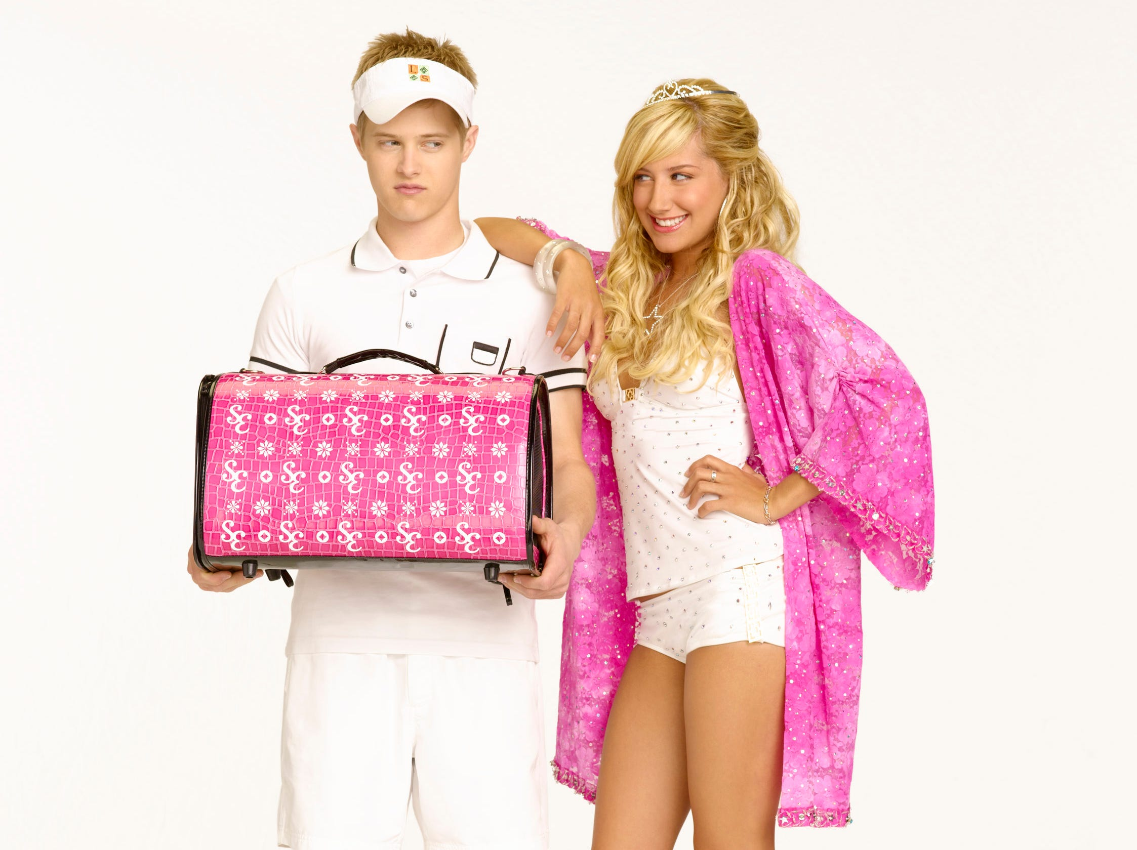 "HIGH SCHOOL MUSICAL 2 - Disney Channel's ""High School Musical 2"" stars Lucas Grabeel as ""Ryan Evans"" and Ashley Tisdale as ""Sharpay Evans."" (DISNEY CHANNEL/ BOB D'AMICO) (Via MerlinFTP Drop)"