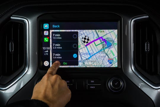 The Waze App in a Chevrolet Silverado  Monday, September 10, 2018 in Detroit, Michigan. (Photo by Jeffrey Sauger for Chevrolet)