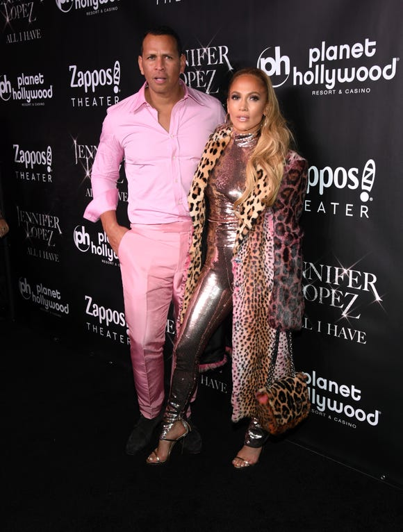 """Alex Rodriguez and Jennifer Lopez attend the after party for the finale of the """"JENNIFER LOPEZ: ALL I HAVE"""" residency at MR CHOW at Caesars Palace on September 30, 2018 in Las Vegas, Nevada."""