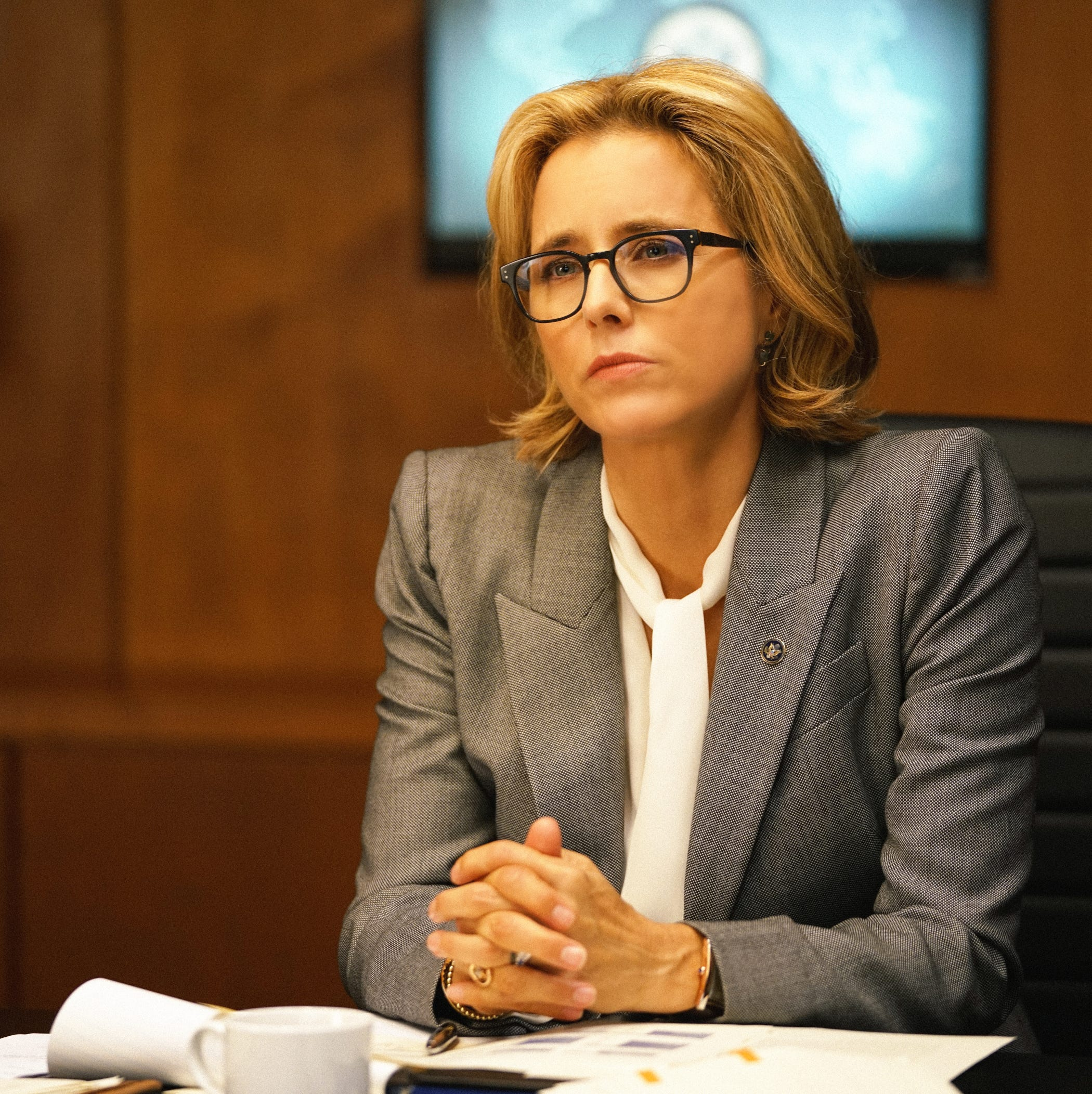 """Madam Secretary"" (CBS, 2014-present): Tea Leoni is Elizabeth Adams McCord, the United States Secretary of State who  advises the President on international issues."