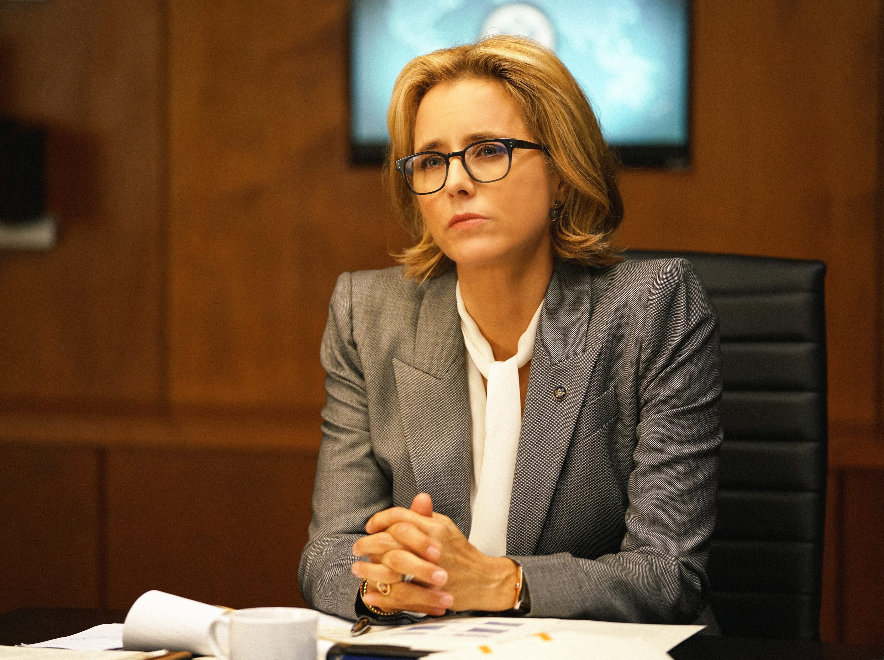 """Madam Secretary"" (CBS, 2014-present): Tea Leoni is Elizabeth Adams McCord, the United States Secretary of State who  advises the President on international issues."