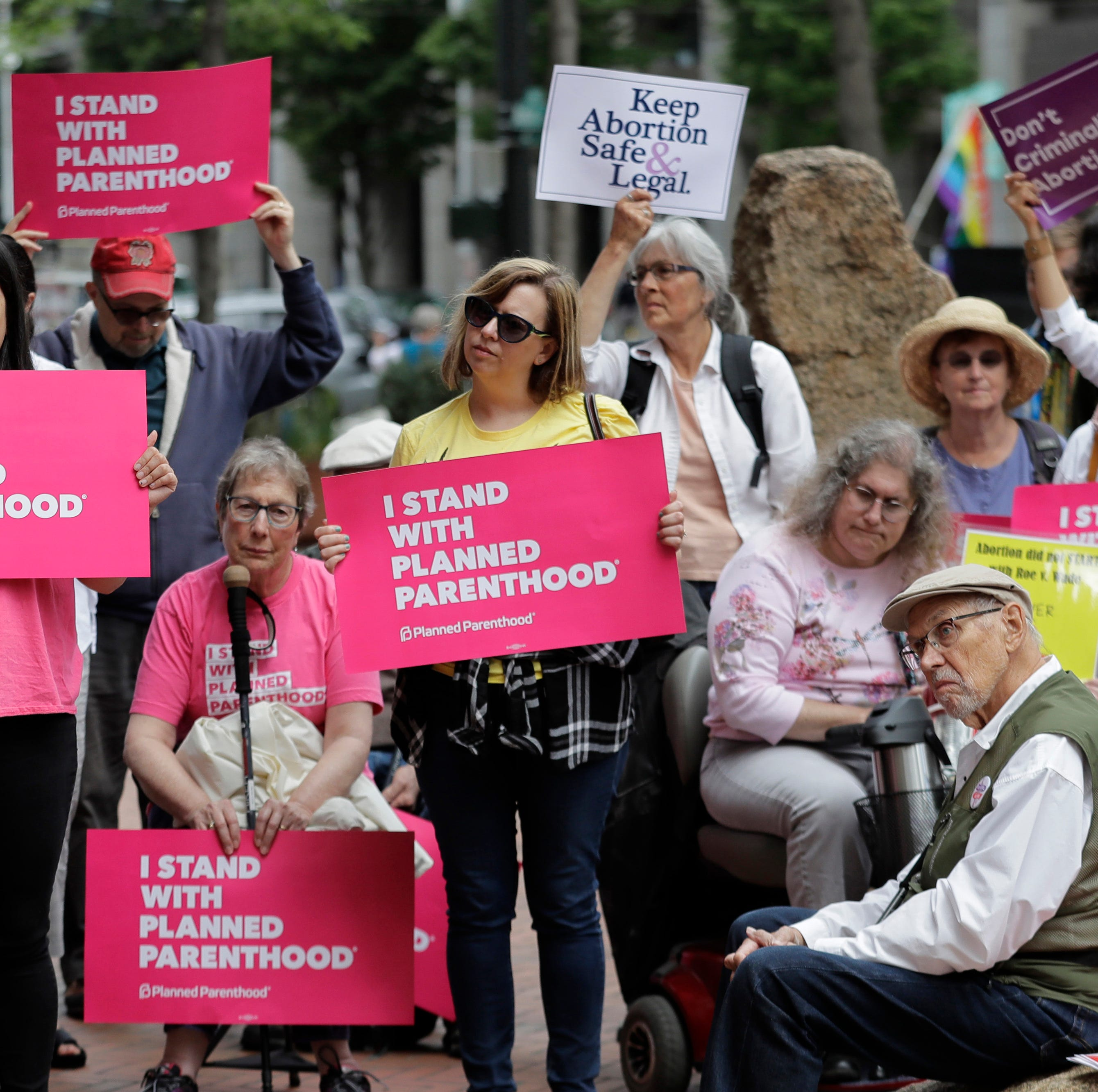 Supporters of Planned Parenthood demonstrated in Seattle this summer to protest Brett Kavanaugh's nomination to the Supreme Court.
