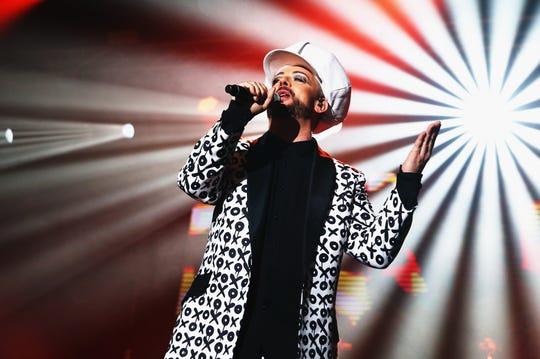 British new wave singer Boy George performs in Sydney in 2016.