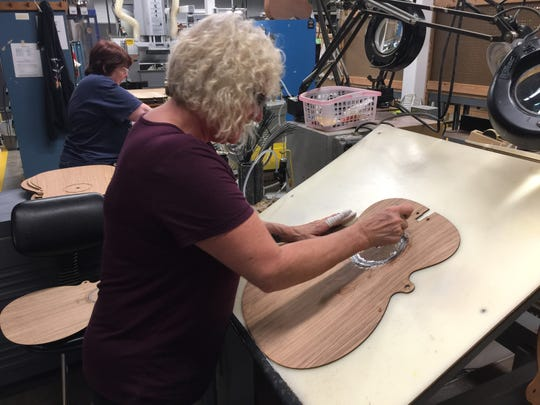 The sound boards – the tops – of Martin guitars are mainly Sitka spruce. Why spruce? Because when aged it develops rich, enduring resonance.