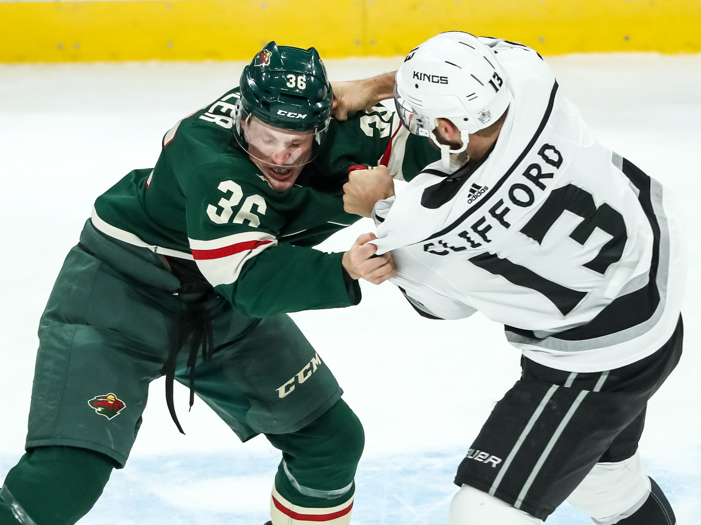 Oct. 25: Minnesota Wild' Nick Steeler vs. Los Angeles Kings' Kyle Clifford.