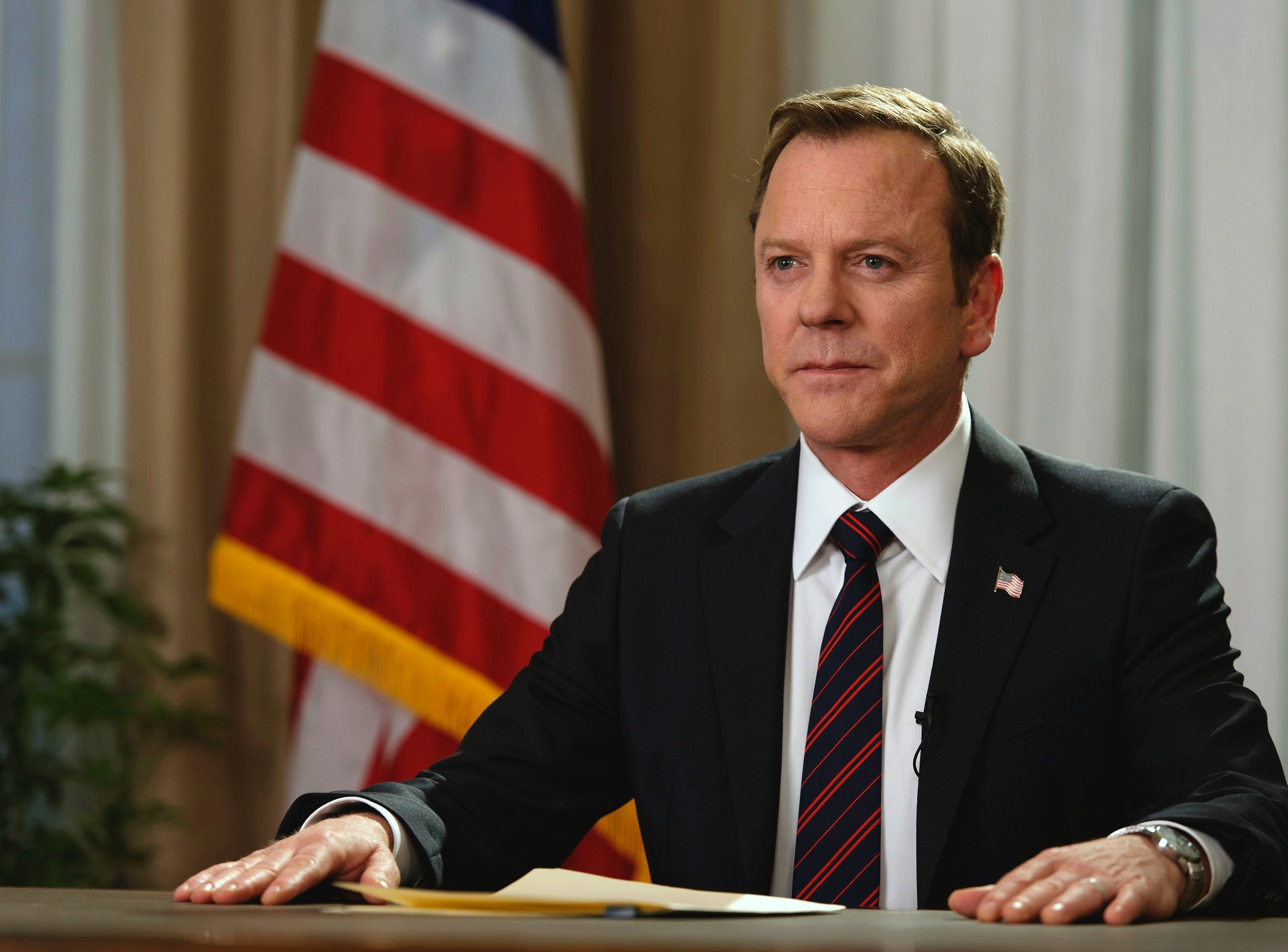 """Designated Survivor"" (ABC, Netflix, 2016-present): Thomas Kirkman (Kiefer Sutherland) becomes the unlikely President of the United States after a terrorist attack."