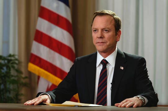 """""""Designated Survivor"""" (ABC, Netflix, 2016-present): Thomas Kirkman (Kiefer Sutherland) becomes the unlikely President of the United States after a terrorist attack."""