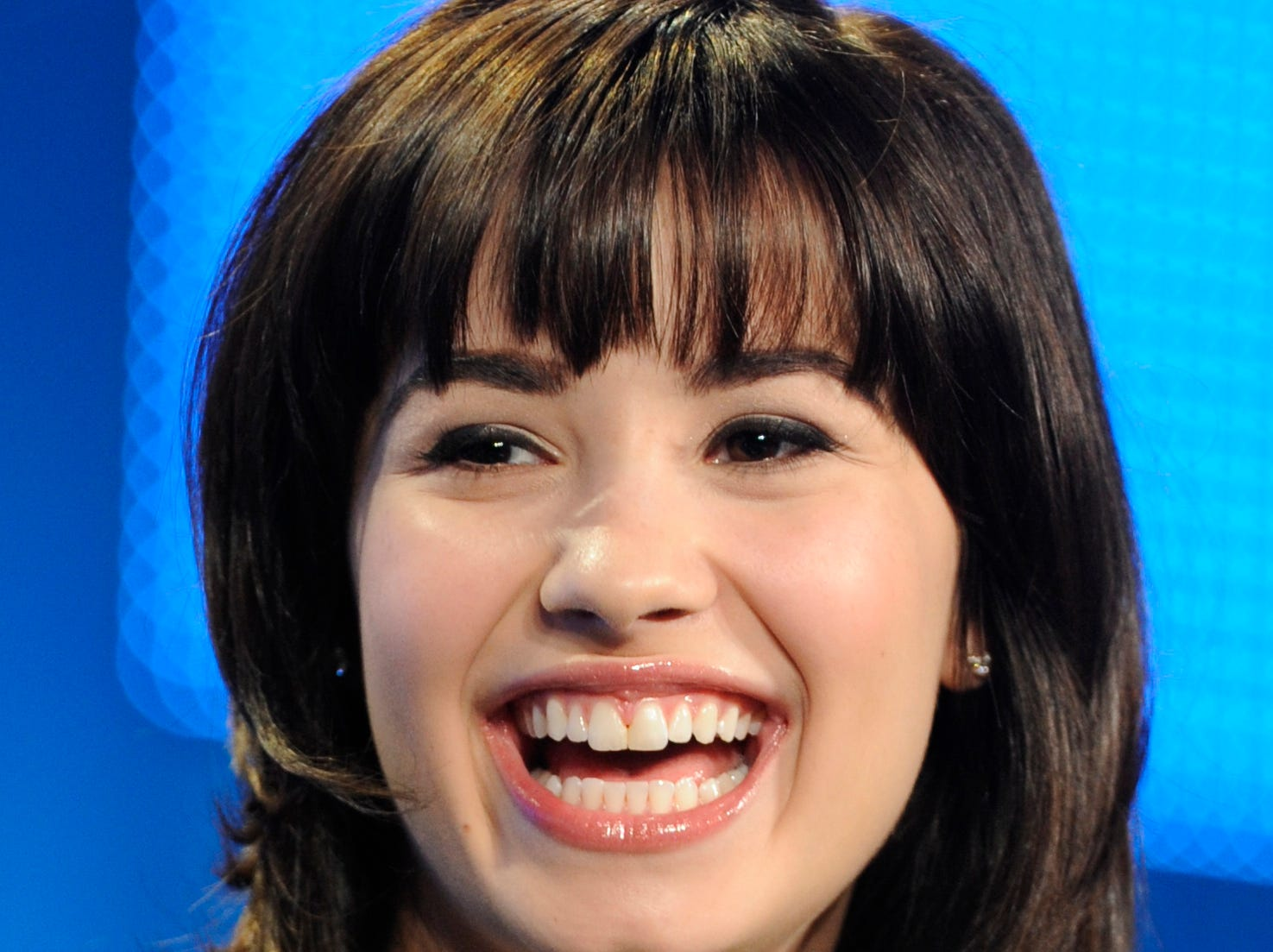 "Demi Lovato, star of the Disney Channel series ""Sonny With a Chance,"" participates in a panel discussion at the Television Critics Association Winter Press Tour  in Los Angeles, Friday, Jan. 16, 2009. (AP Photo/Chris Pizzello) ORG XMIT: CACP104"