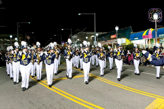 Marching bands playing holiday tunes, giant floats and appearances by Santa Claus himself make the Holiday Parade at the Beach a must-do holiday event.