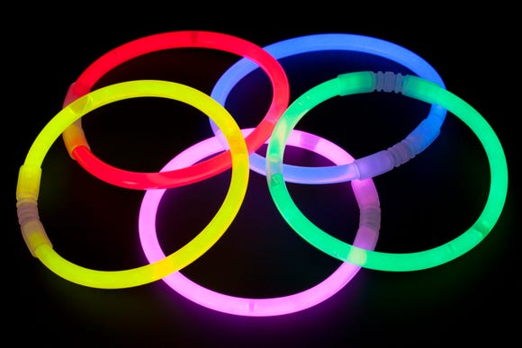 Glow sticks are good alternatives to candy this Halloween.
