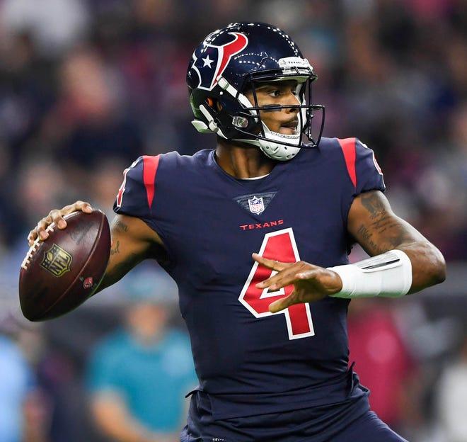 Deshaun Watson threw for 5 TDs in the Texans' win Thursday night.
