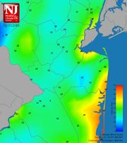 Central Jersey wind speeds