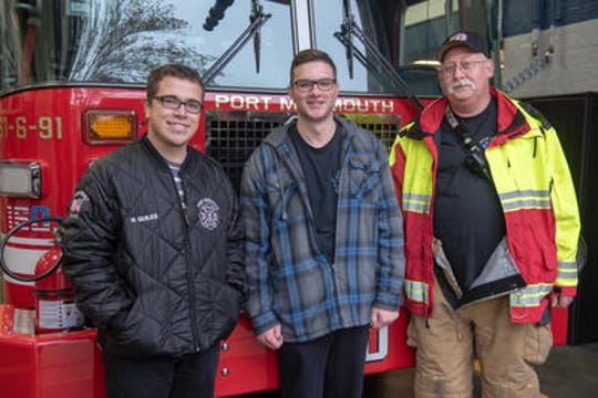 hree Port Monmouth Fire Dept. members (from left) involved in the rescue were firefigher Nick Quiles, Lt. Robert Svenson, Jr., and Company Chief Engineer John Sanders, Sr. A nor'easter storm brought heavy rain, wind and flooding to Monmouth County Saturday, October 27, 2018.