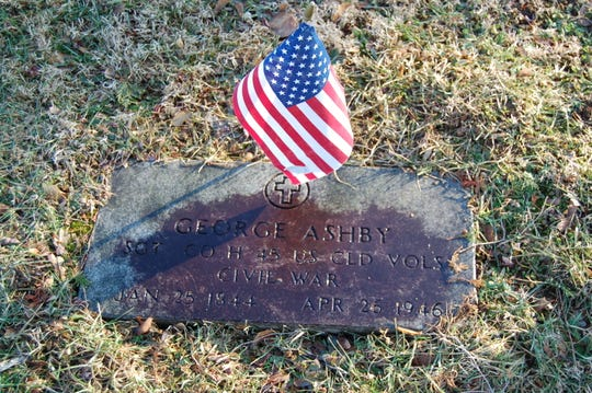 The grave of Sgt. George Ashby in Allentown