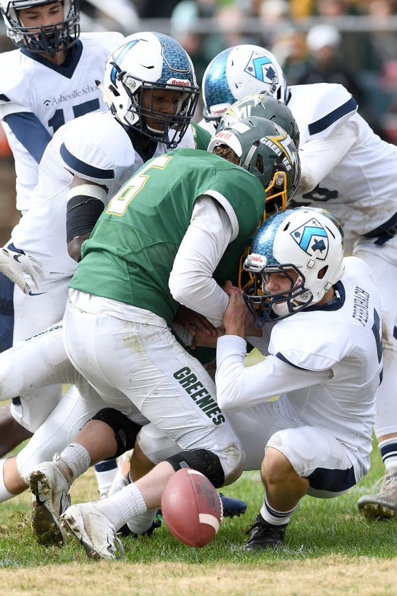 """Christ School hosted Asheville School in the 92nd meeting of """"The Game"""" their annual rivalry on Oct. 27, 2018. The Greenies defeated the Blues 48-0."""