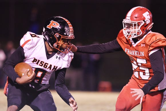Franklin hosted Pisgah Oct. 26, 2018 at home. Pisgah won, 21-14.
