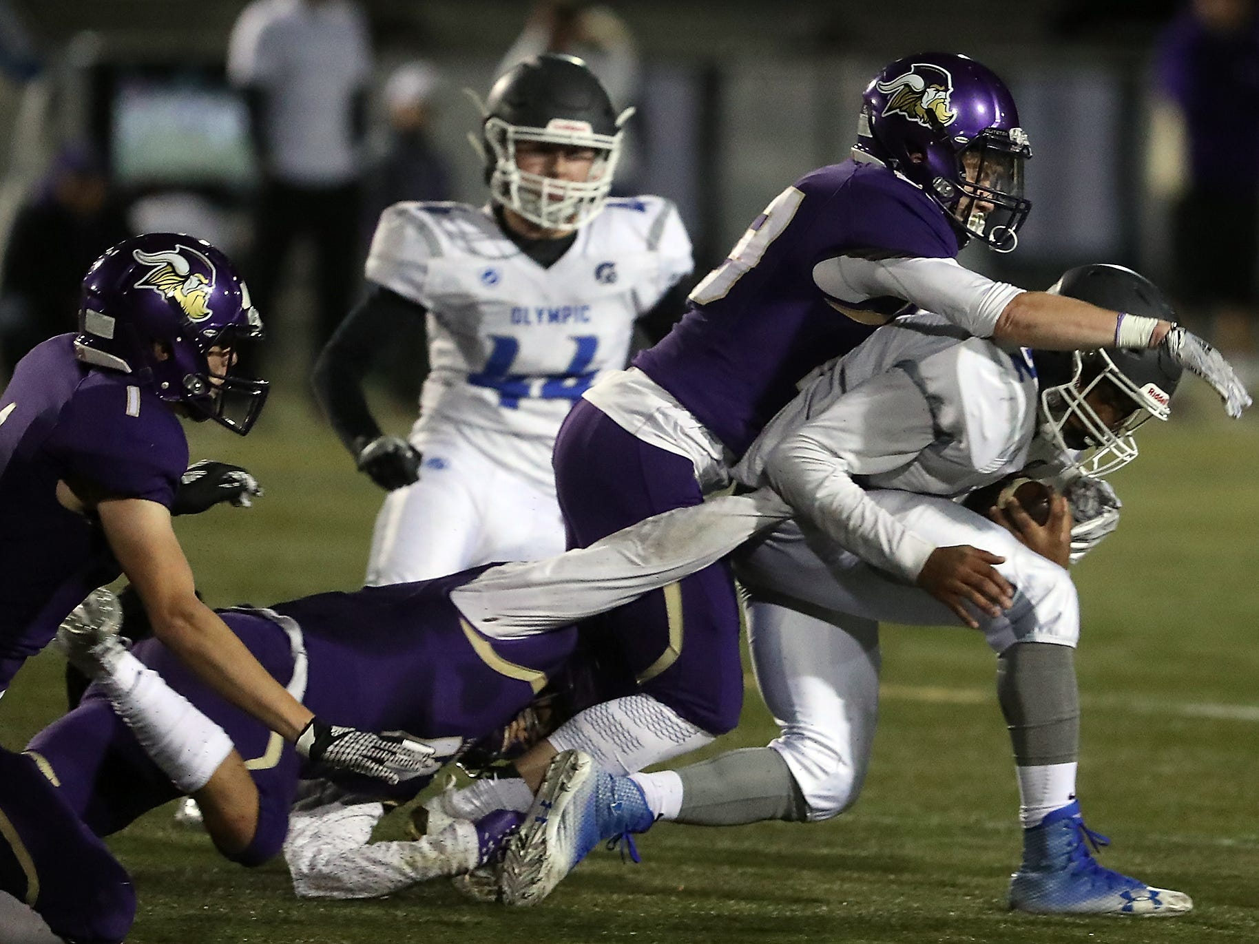 North Kitsap vs Olympic football in Poulsbo on Friday, October 26, 2018.