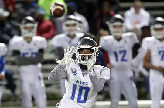 Olympic's Adam Johnson should be a force for the Trojans on offense and defense in 2019.