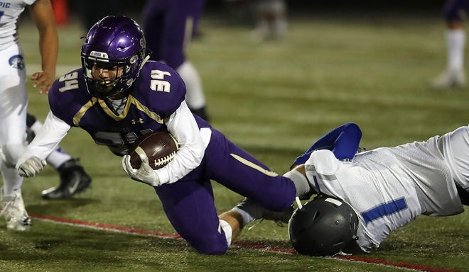 Clayton Williams ran for three touchdowns as North Kitsap defeated Olympic, 60-19, on Friday.