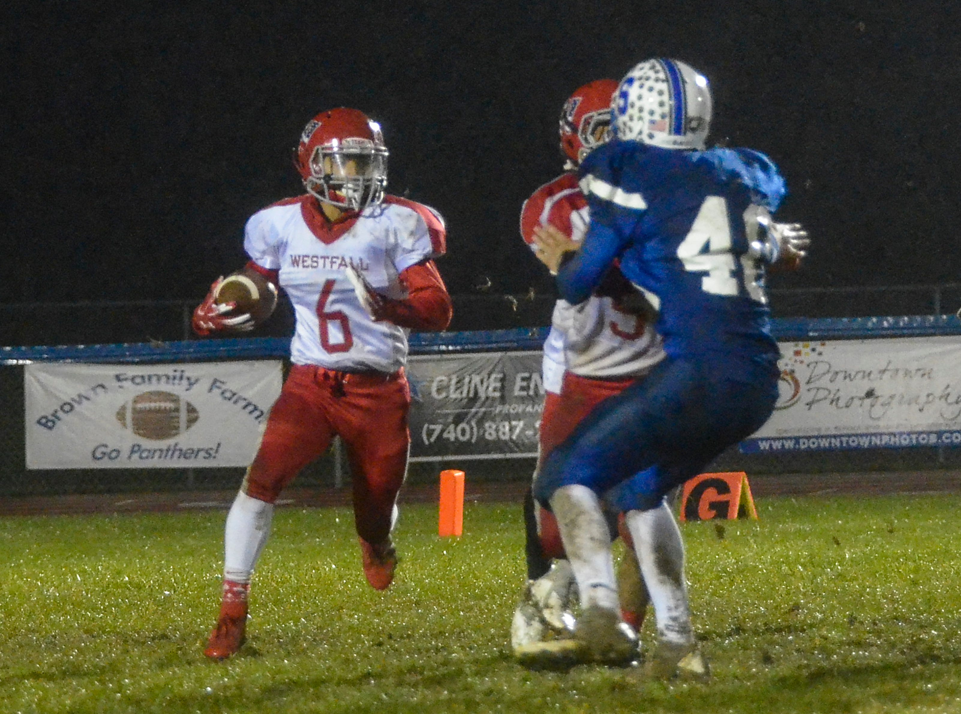 Southeastern defeated Westfall Friday night at Southeastern High School 40-0.