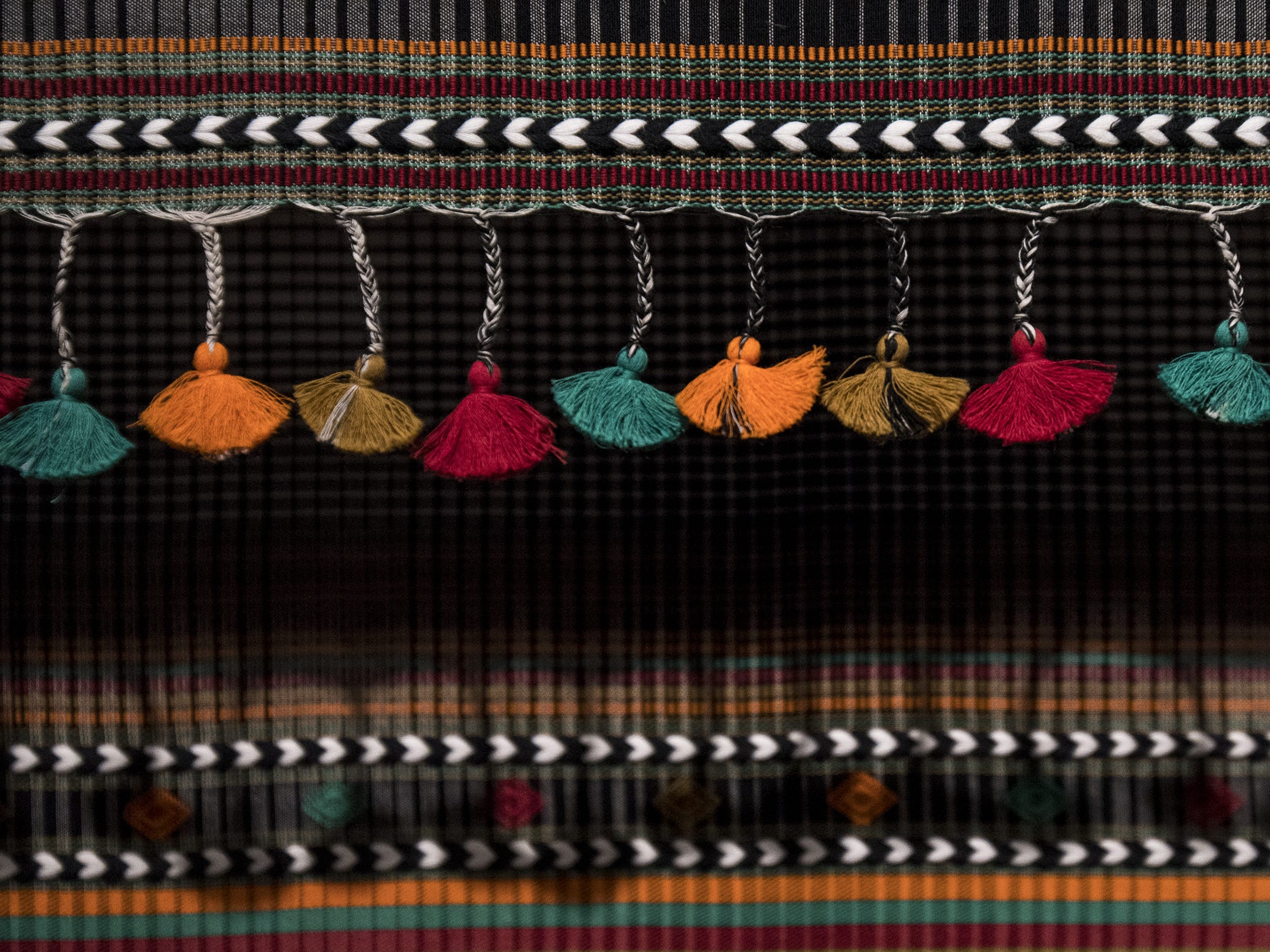 This Kabari-Style stole by Dyalal Kudecha is a part of the new Fabrics of India exhibit at the Cincinnati Art Museum.